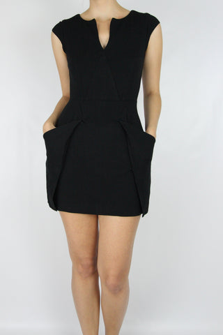 GEOMETRIC PONTE MINI-DRESS