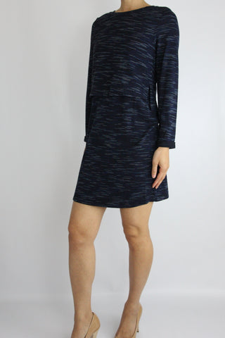 3/4 SLEEVE SPACE DYE KNIT DRESS