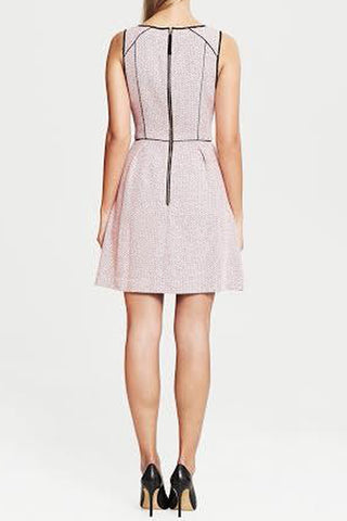 TWEED PIPED FIT AND FLARE DRESS