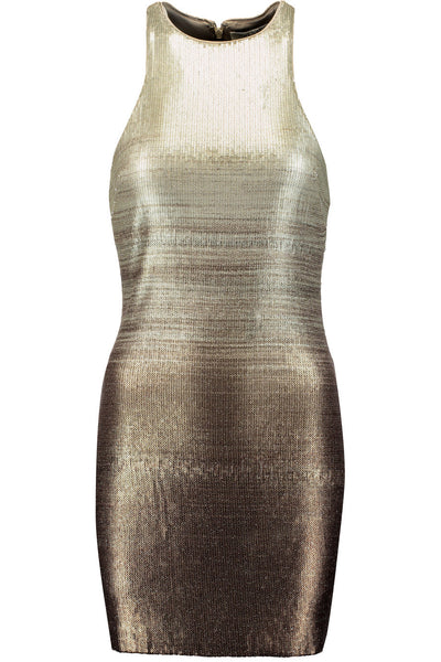 Ombré Metallic Sequined Dress