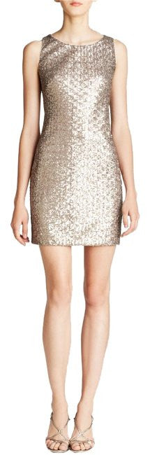 SEQUIN MESH SHIFT DRESS