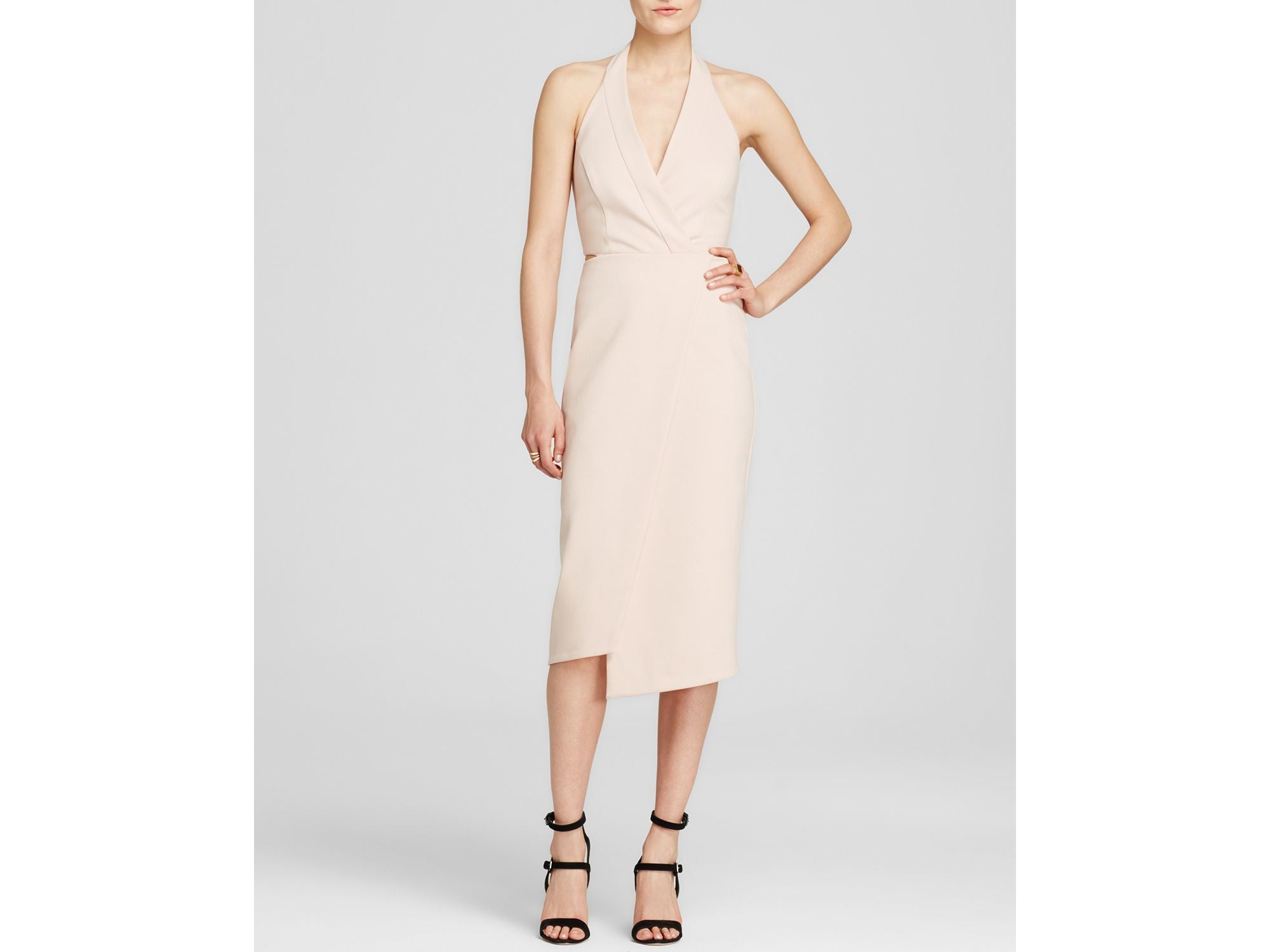 SLEEVELESS PONTI DRESS