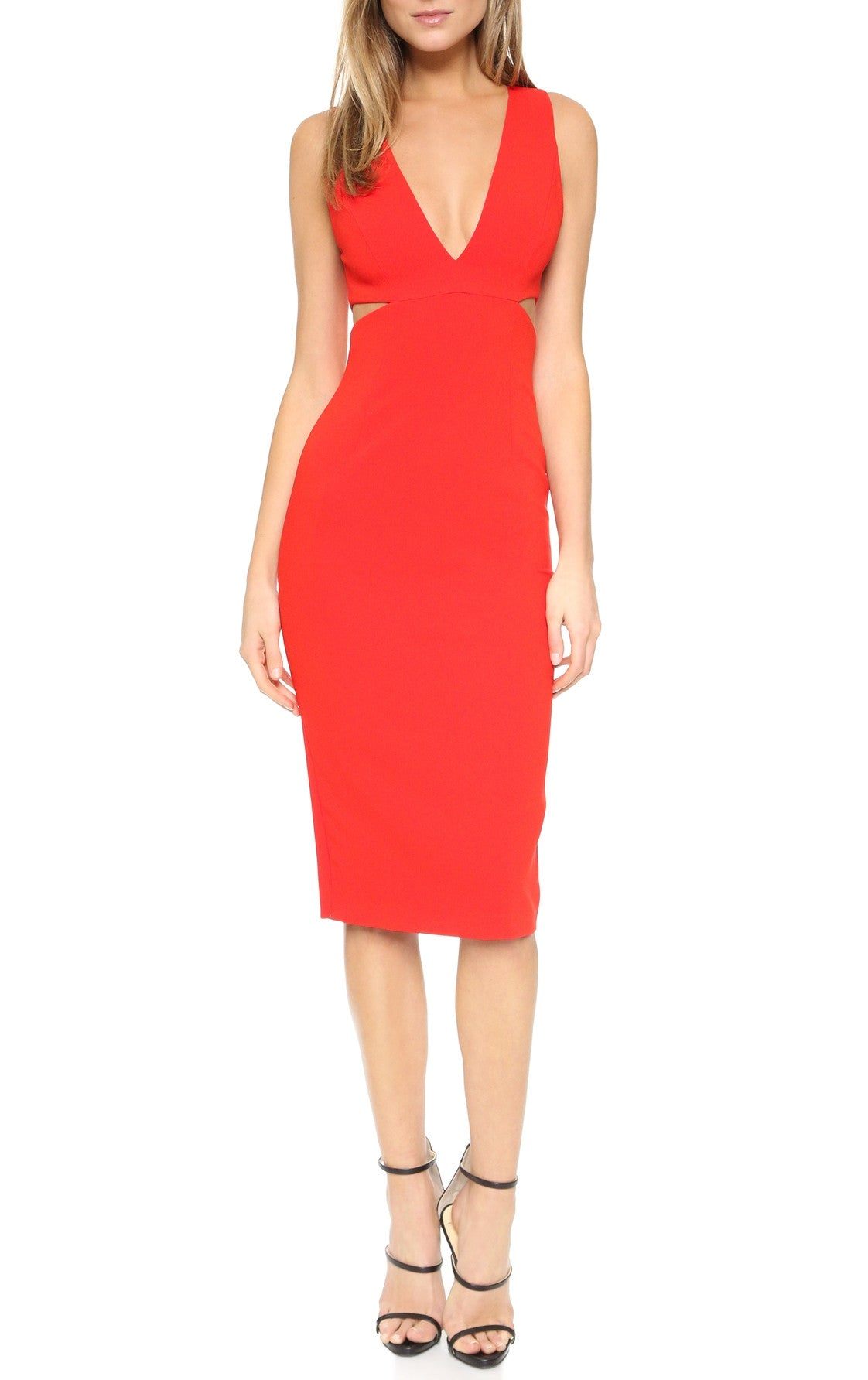 FITTED CUTOUT DRESS
