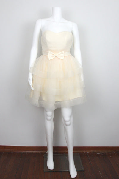 SWEETHEART TIERED TULLE DRESS