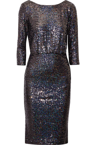 3/4 Sleeve Sequined Dress