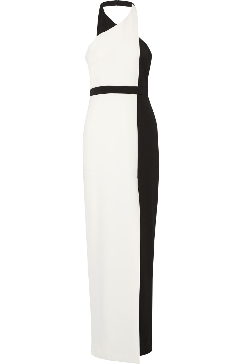 Two-Tone Halterneck Gown