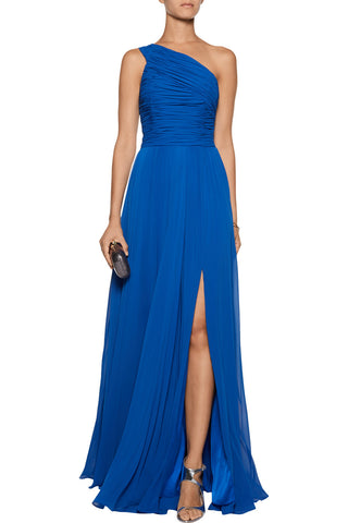 One-shoulder Chiffon Gown