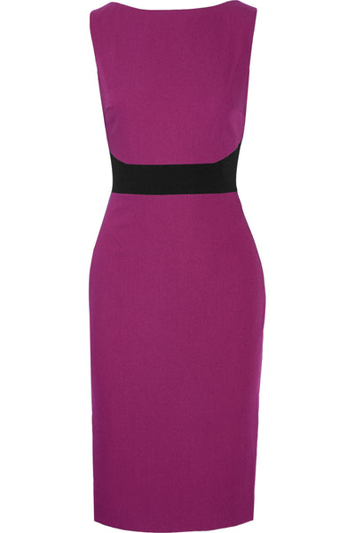 COLOR BLOCK CREPE DRESS