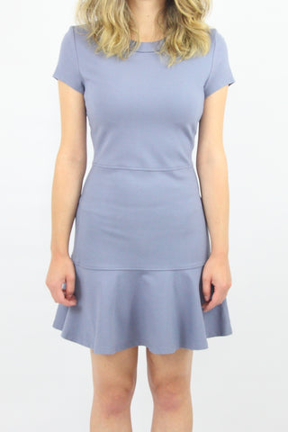 JERSEY DRESS WITH FLARE HEM