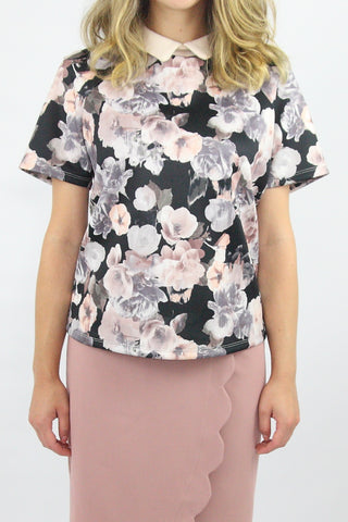 FLORAL NEOPRENE TOP