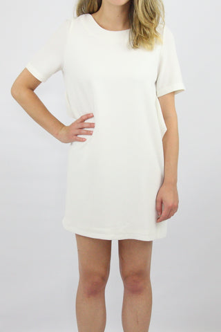 LOOSE MINIDRESS WITH RUFFLE BACK