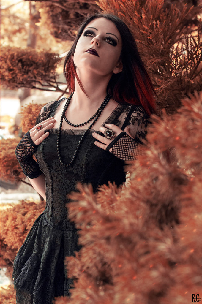 New gothlolibeauty photo of DW129 gothic lace tail dress by Anomal,click to see more