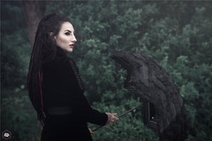 New gothlolibeauty photo of JW048 gothic dovetail jacket and AUM004 umbrella,click to see more