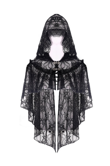 gothic black lace velvet cape and bolero