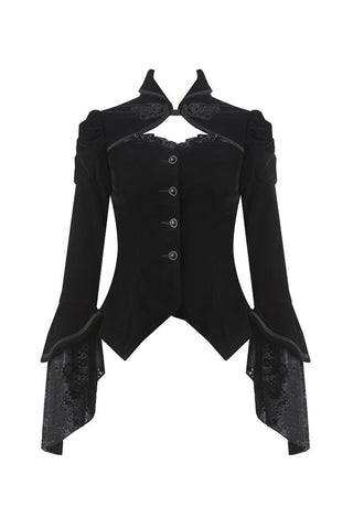 women gothic velvet punk jacket rave coat