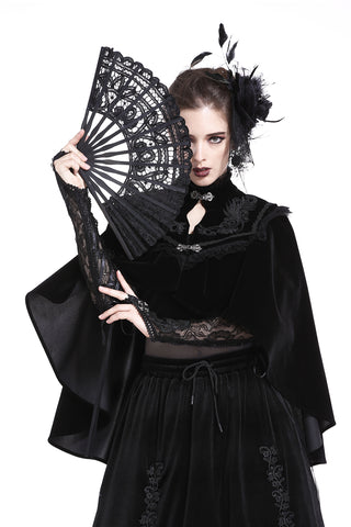Gothic black lace fan AFN003 - Gothlolibeauty