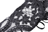 Elegant embroidery gothic gloves AGL009