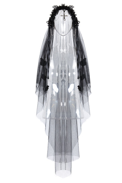 AHW004 Gothic bride cross veil