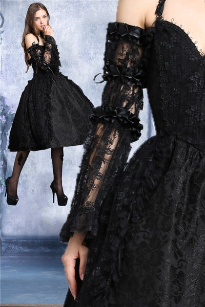 ARW001 gothic lolita Crumple lace arm sleeve(price for one pair)