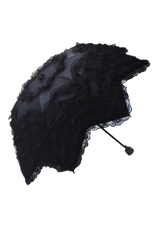 Gothic lolita five angle shape waterproof telescopic umbrella parasol AUM004 - Gothlolibeauty