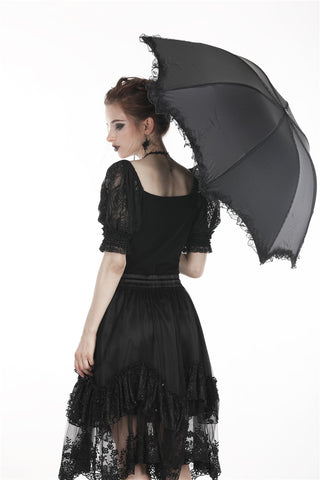 Gothic lolita telescopic umbrella AUM013 - Gothlolibeauty