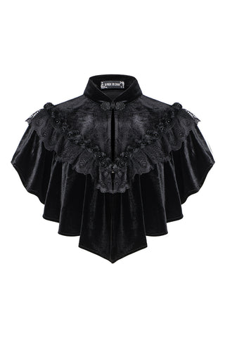 Gothic Black cape hearted shaped capelet BW043 - Gothlolibeauty