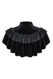 BW043 Gothic black cape hearted shaped capelet