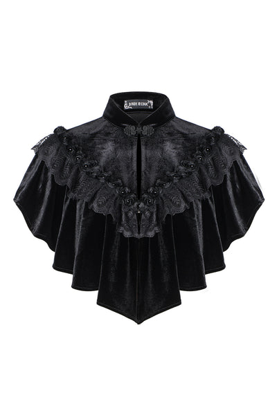 BW043 Gothic hearted shaped capelet