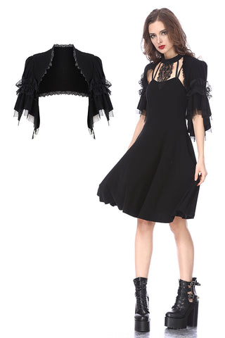 BW044 Black lolita kawayi bubble sleeves cape by DARK IN LOVE - Gothlolibeauty