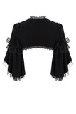 BW044 Black lolita kawayi bubble sleeves cape by DARK IN LOVE