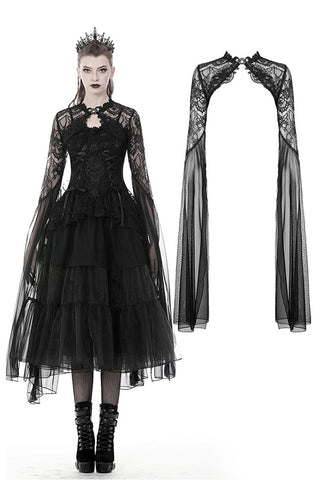 Gothic mesh and lace super long sleeves cape BW074 - Gothlolibeauty