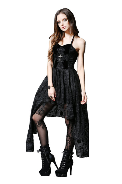 DW063 Gothique elegant dead souls cross dress with side long designs