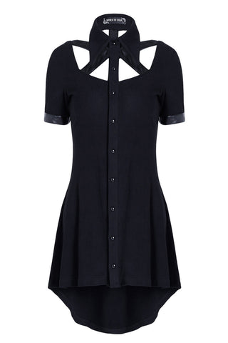 Punk hollow-out doll collar cocktail Tee dress DW127 - Gothlolibeauty