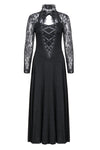 Gothic lace knitted long dress DW154 - Gothlolibeauty