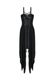 Punk knitted dress with irregular hem and interlaced rope design DW190 - Gothlolibeauty