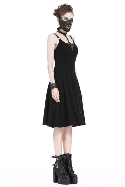 DW195 Punk daily dress with sexy cross across neck design