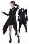 Punk metal hook hollow shoulder midi dress DW199 - Gothlolibeauty