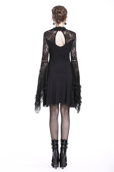 DW210 Elegant gothic lace-up lacey knitted T-shirt