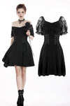 Gothic lolita lace-up chiffon dress DW264 - Gothlolibeauty
