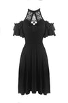 Gothic lady lacey lace up chest dress DW299 - Gothlolibeauty