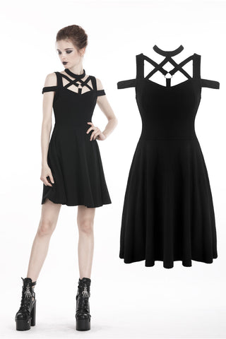 Punk sexy hollow belt dress DW307 - Gothlolibeauty