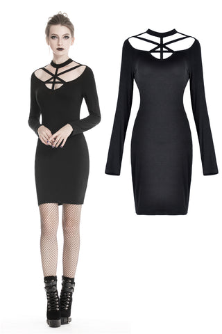 Punk alternative dress with sexy chest DW318 - Gothlolibeauty