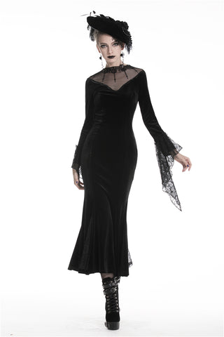 Gothic bodycon maxi tight dress DW321 - Gothlolibeauty