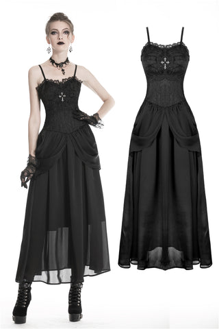 Gothic noble party wedding dress with jacquard  DW336 - Gothlolibeauty