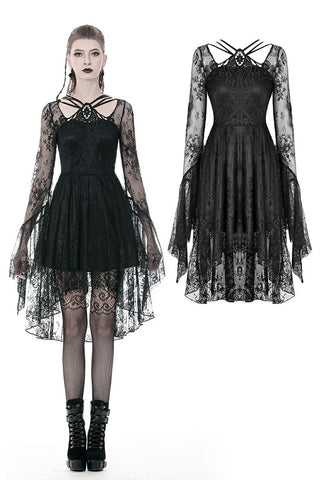 Gothic lady lacey cocktail dress DW343 - Gothlolibeauty