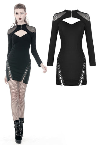 Punk mermaid sexy lace up thigh pencil dress DW353 - Gothlolibeauty