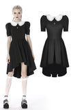 Black lolita Whiteite collar cocktail dress DW397 - Gothlolibeauty