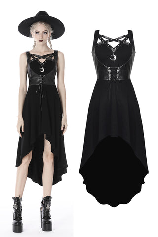 Punk moon fishtail dress DW401 - Gothlolibeauty