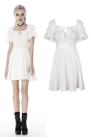 custom made link of Lolita Whiteite short puff sleeves dress DW422 - Gothlolibeauty