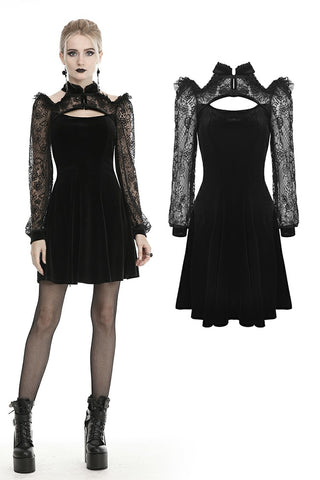 Gothic princess lace velvet dress DW433